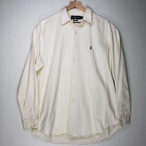 Ralph Lauren Blake Button Down Shirt Heavyweight Cotton Men's L